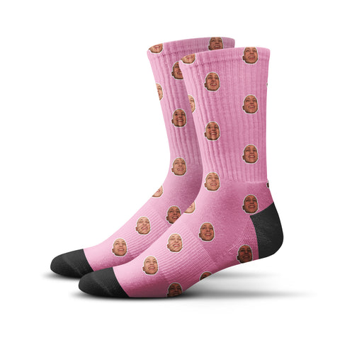 Custom Human Socks – Pink