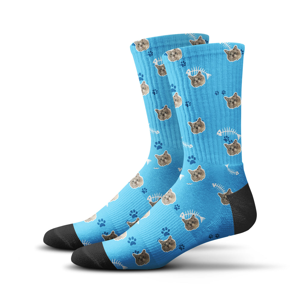 Custom Kitty Socks – Blue