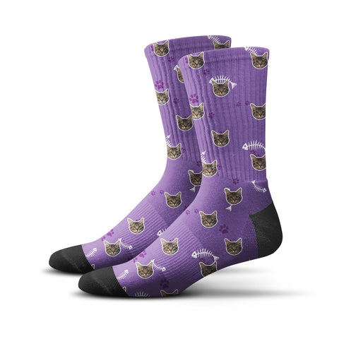 Custom Kitty Socks – Purple