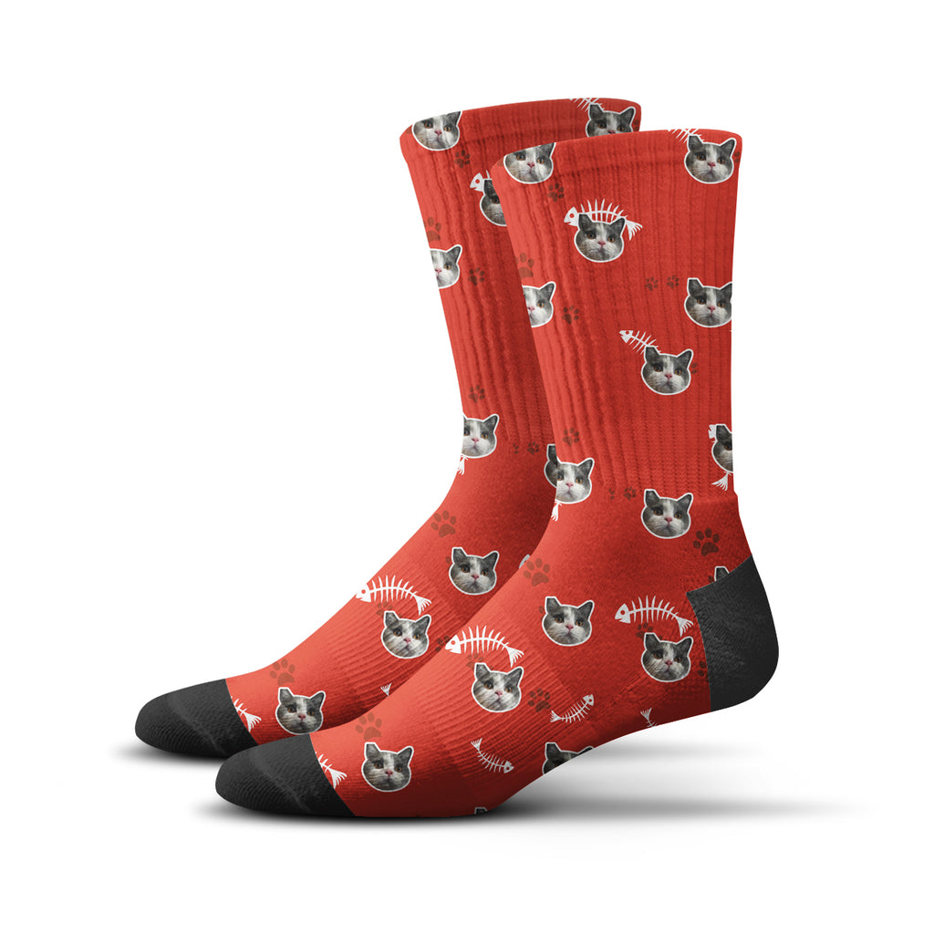 Custom Kitty Socks – Red