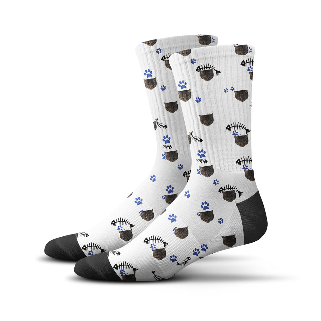 Custom Kitty Socks – White