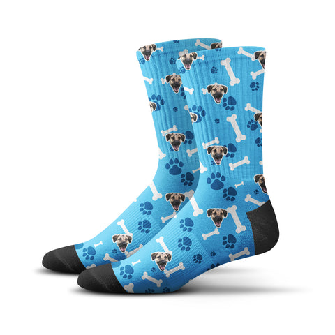 Custom Puppy Socks – Blue