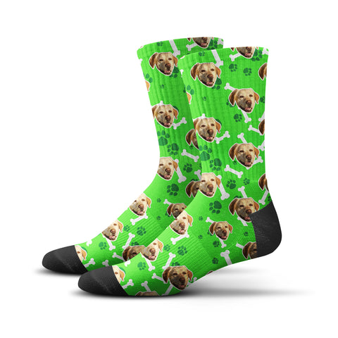 Custom Puppy Socks – Green