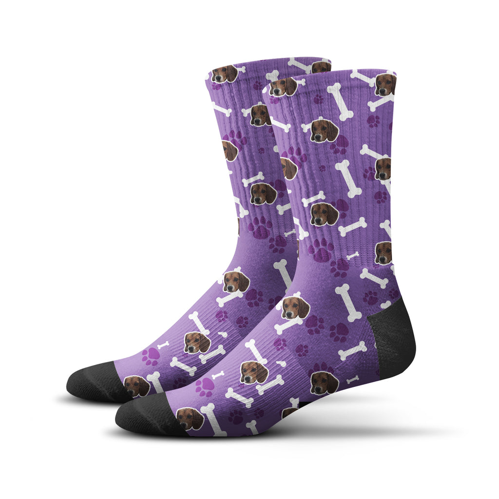 Custom Puppy Socks – Purple