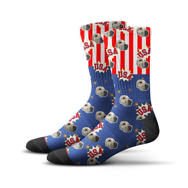 USA Flag Socks