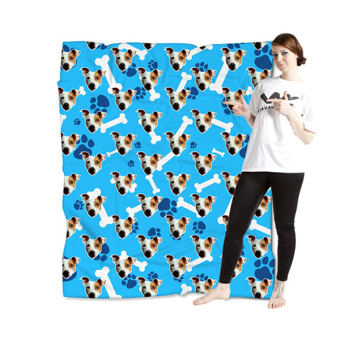 Puppy Love Blanket - Blue