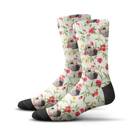 Custom Flowers For You Socks