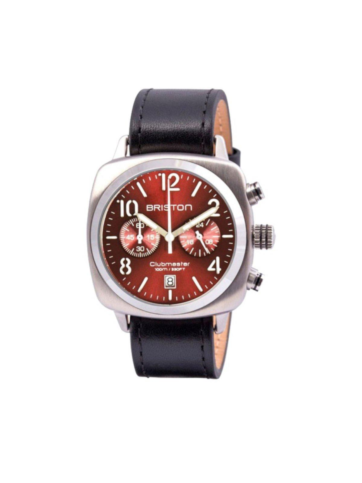 Briston Clubmaster Classic Steel Chronograph Red Sunray Dial 40mm - MORE by Morello Indonesia