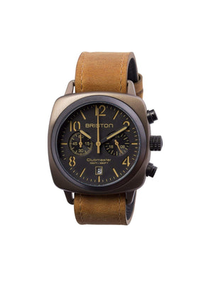 Briston Clubmaster Classic Steel Chronograph Khaki 40mm - MORE by Morello Indonesia