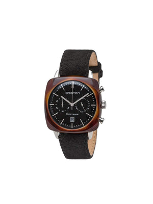Briston Clubmaster Vintage Acetate Chronograph Tortoise Shell Black Dial 40mm
