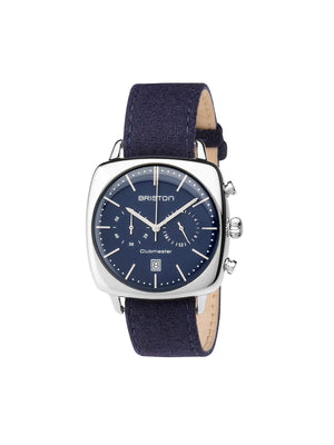 Briston Clubmaster Vintage Steel Chronograph Navy Blue Matt Dial 40mm - MORE by Morello Indonesia