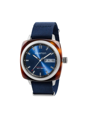 Briston Clubmaster Sport Acetate HMS Tortoise Shell Blue Sunray Dial 42mm - MORE by Morello Indonesia