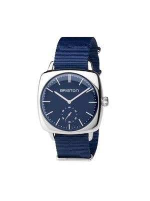 Briston Clubmaster Vintage Steel Small Second Navy Blue Matt Navy Blue Nato Strap 40mm - MORE by Morello Indonesia