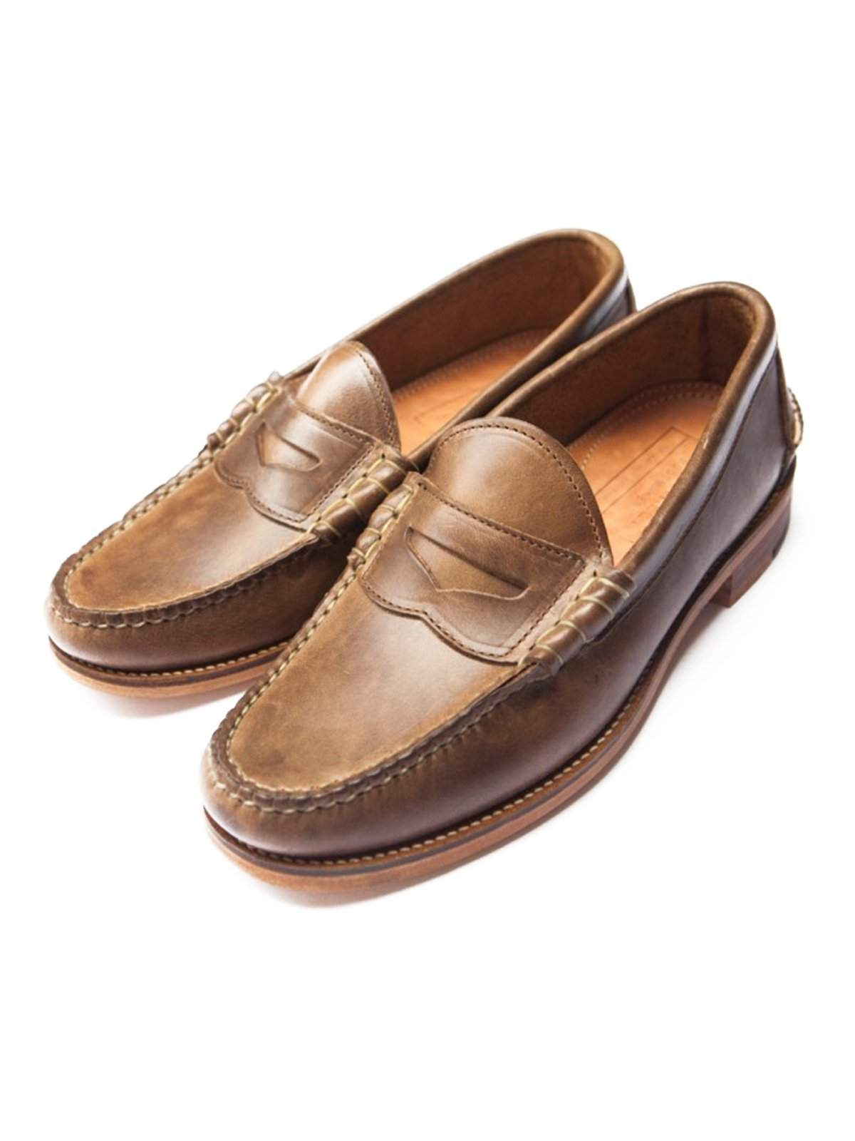 e4cf341ba87 Oakstreet Bootmakers Natural Beefroll Penny Loafer - MORE by Morello ...