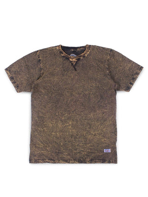 Jackhammer Acid Wash Crewneck Tee Wood Brown - MORE by Morello Indonesia