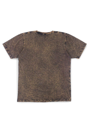 Jackhammer Acid Wash Crewneck Tee Wood Brown