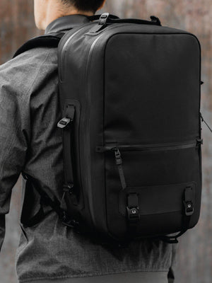 Black Ember Citadel R2 Minimal Backpack Jet Black - MORE by Morello Indonesia