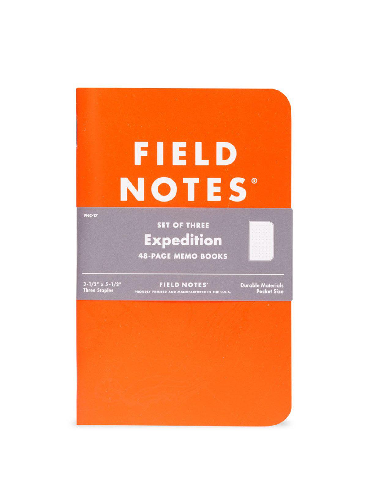 Field Notes Expedition 3 Pack Dot Graph Paper - MORE by Morello Indonesia