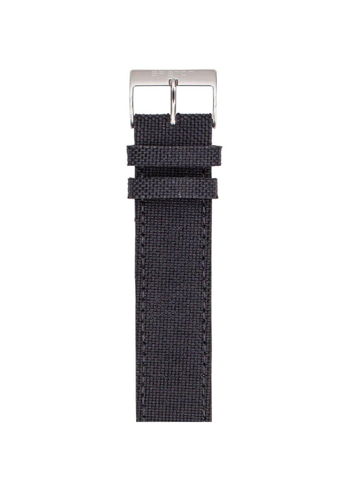 Briston Leather Canvas Strap Black 20mm