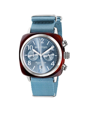 Briston Clubmaster Classic Acetate Chronograph Ice Blue Sunray 40mm - MORE by Morello Indonesia