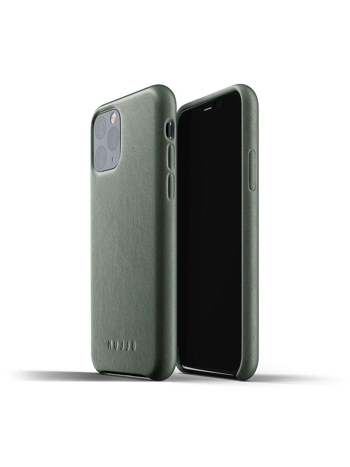 Mujjo Full Leather Case for iPhone 11 Pro Slate Green - MORE by Morello Indonesia
