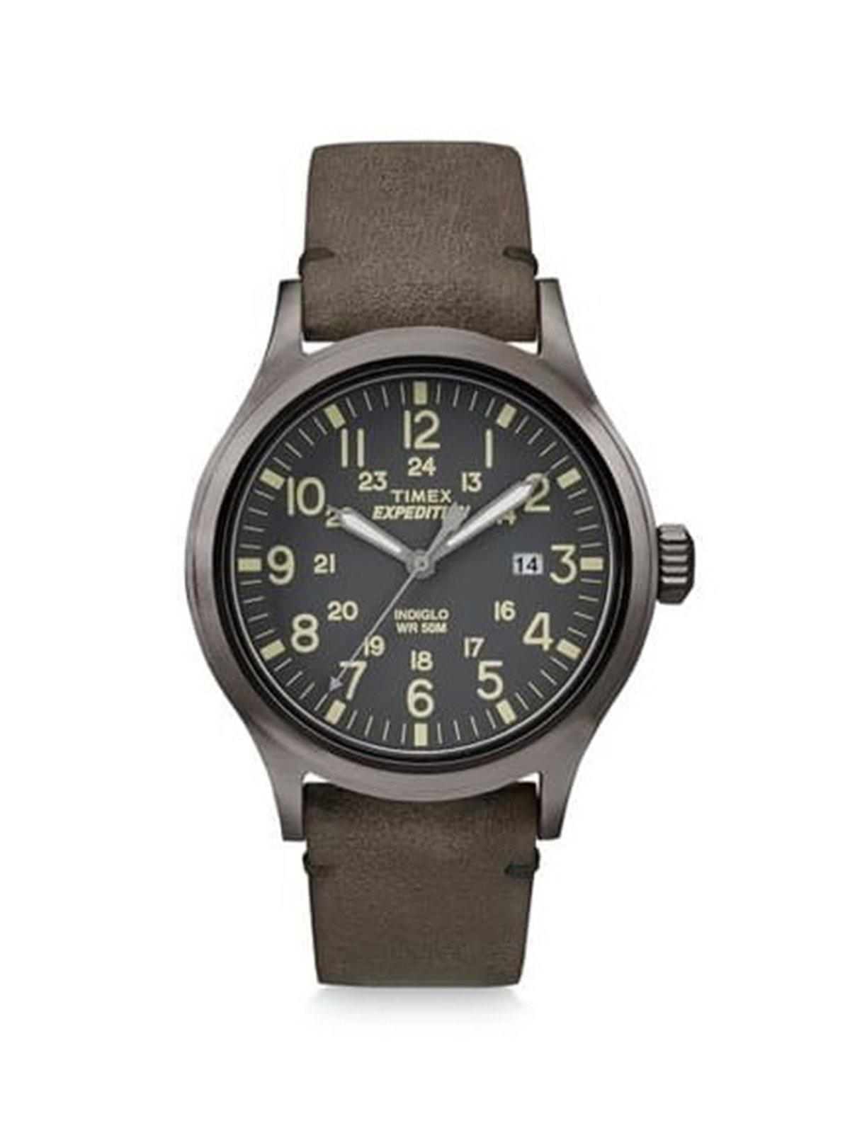 Timex Expedition Scout Brown Leather Gray Dial Movement TW4B01700 40mm - MORE by Morello Indonesia