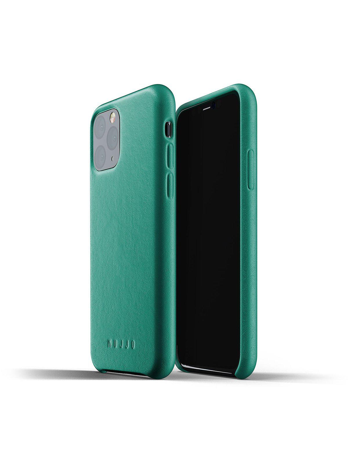 Mujjo Full Leather Case for iPhone 11 Pro Alpine Green - MORE by Morello Indonesia