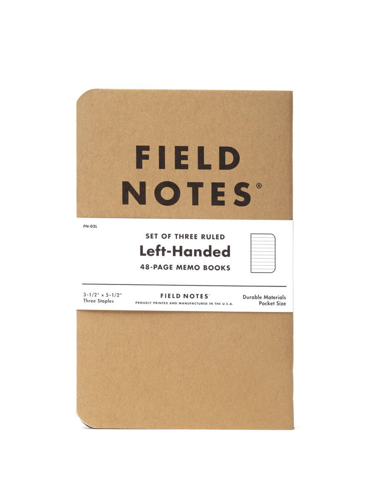 Field Notes Left Handed 3 Pack Ruled Paper - MORE by Morello Indonesia