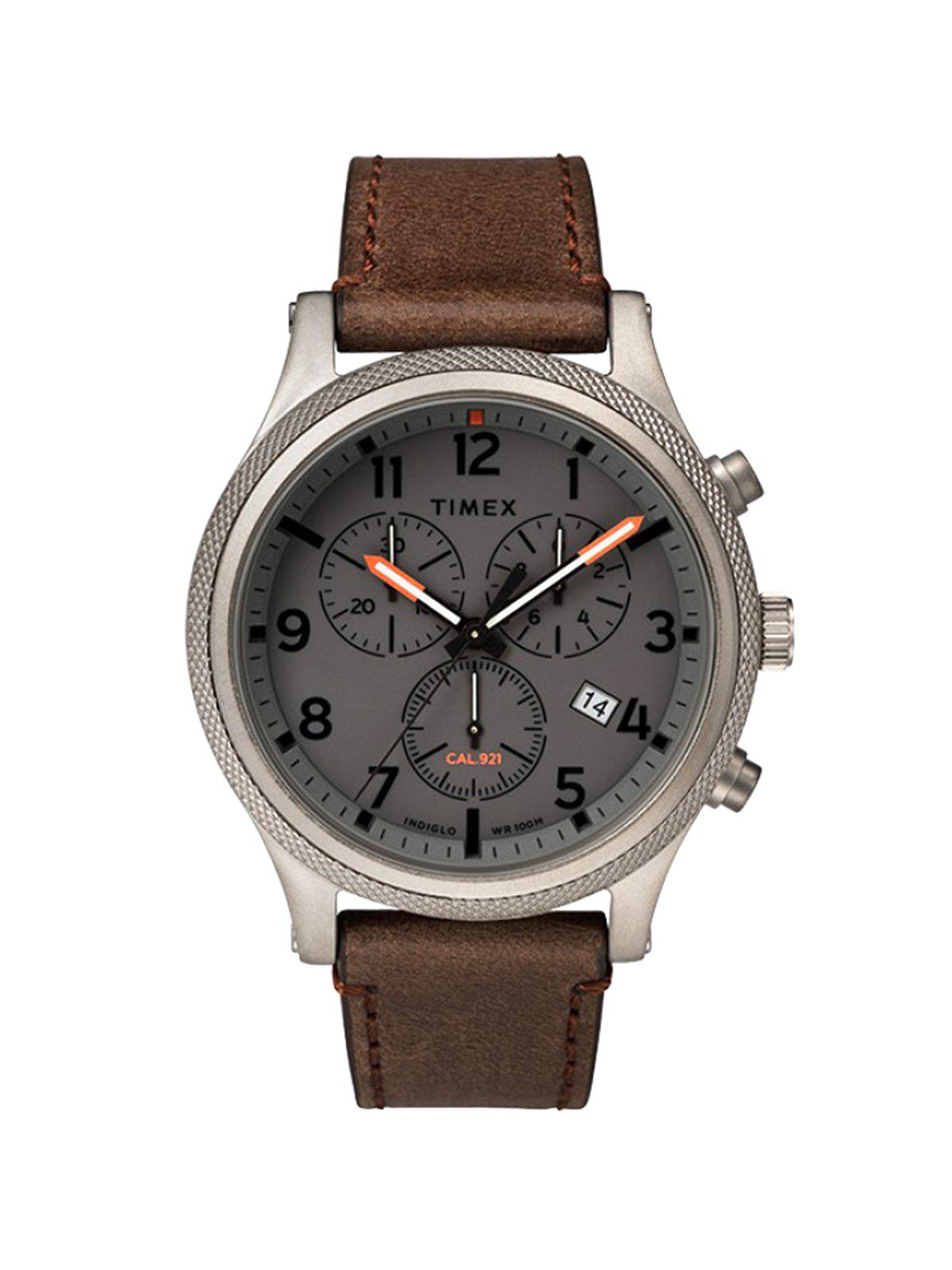 Timex Allied LT Chronograph TW2T32800 42mm Leather Strap Watch - MORE by Morello Indonesia