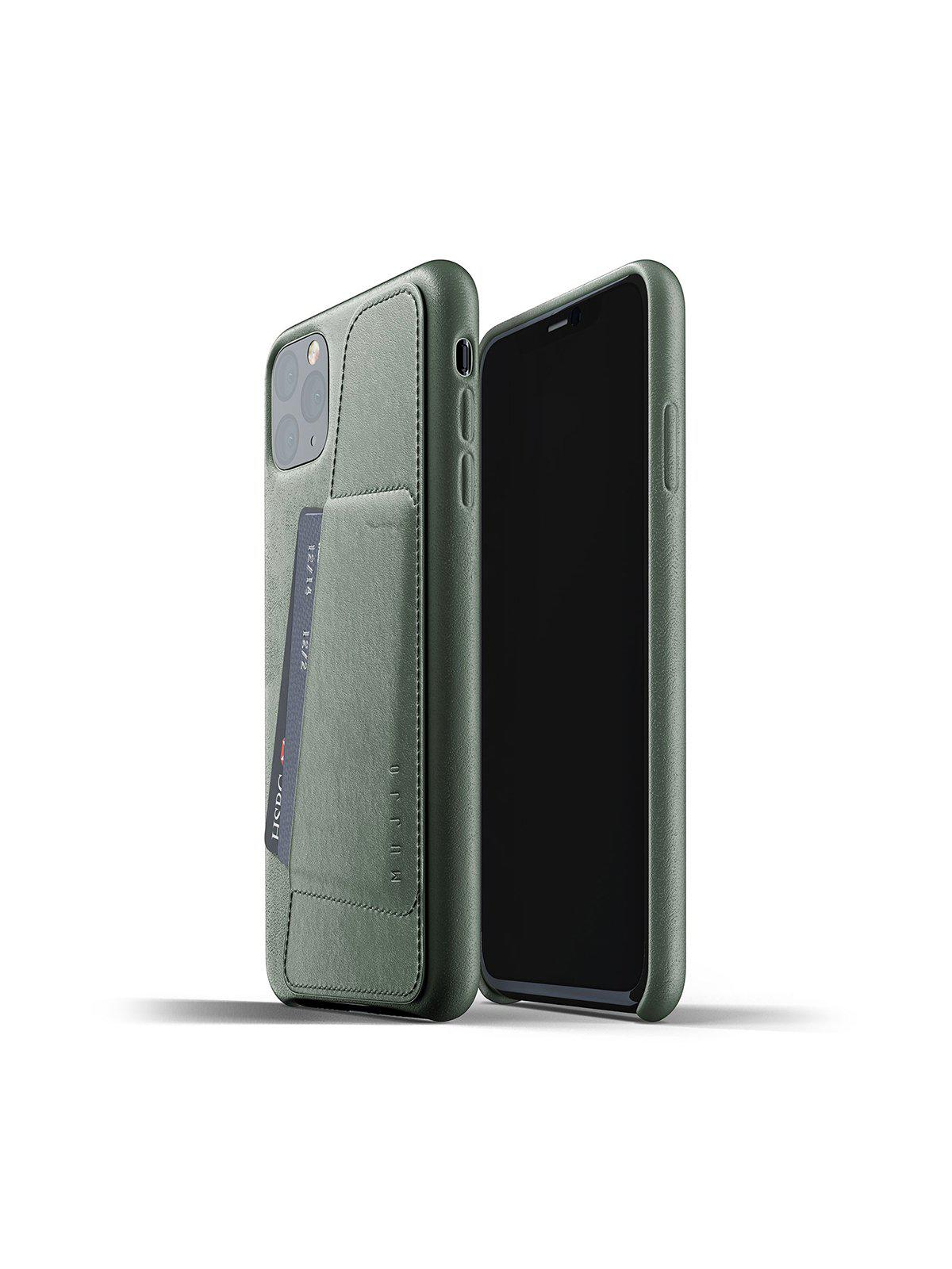 Mujjo Full Leather Wallet Case for iPhone 11 Pro Max Slate Green - MORE by Morello Indonesia
