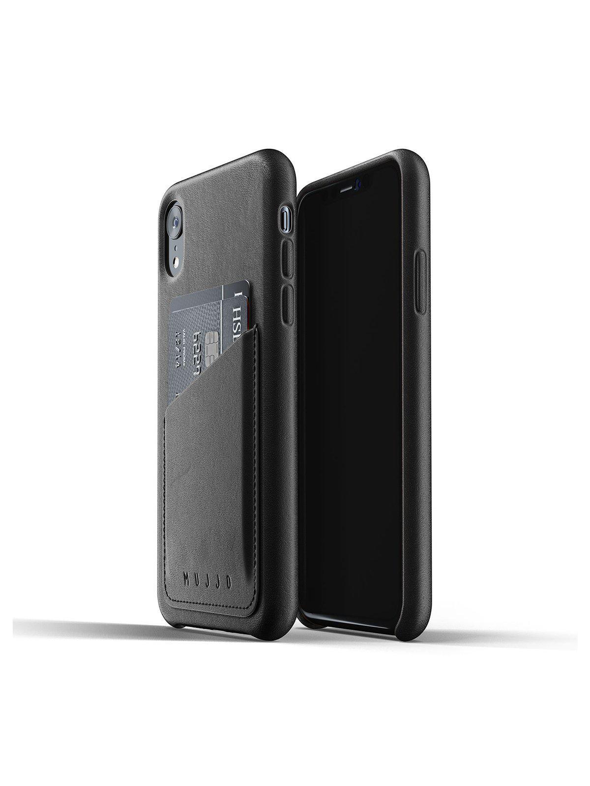 Mujjo Full Leather Wallet Case for iPhone XR Black - MORE by Morello Indonesia