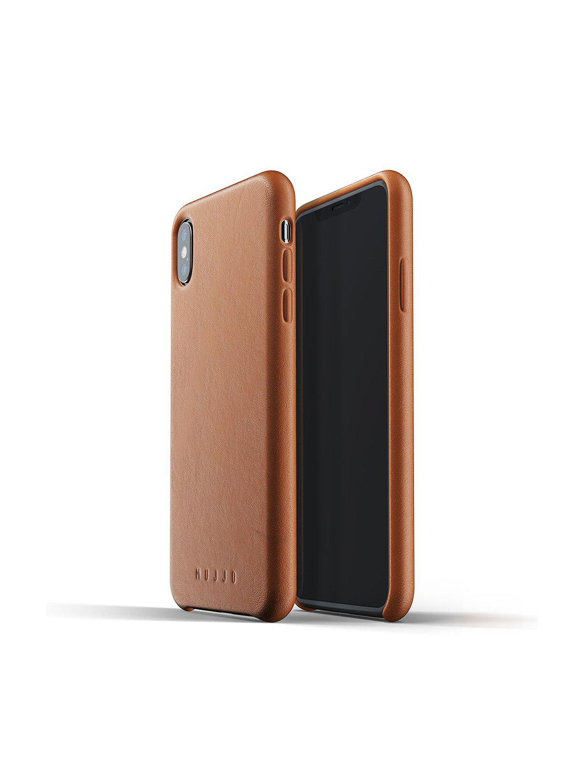 Mujjo Full Leather Case for iPhone XS Max Tan - MORE by Morello Indonesia