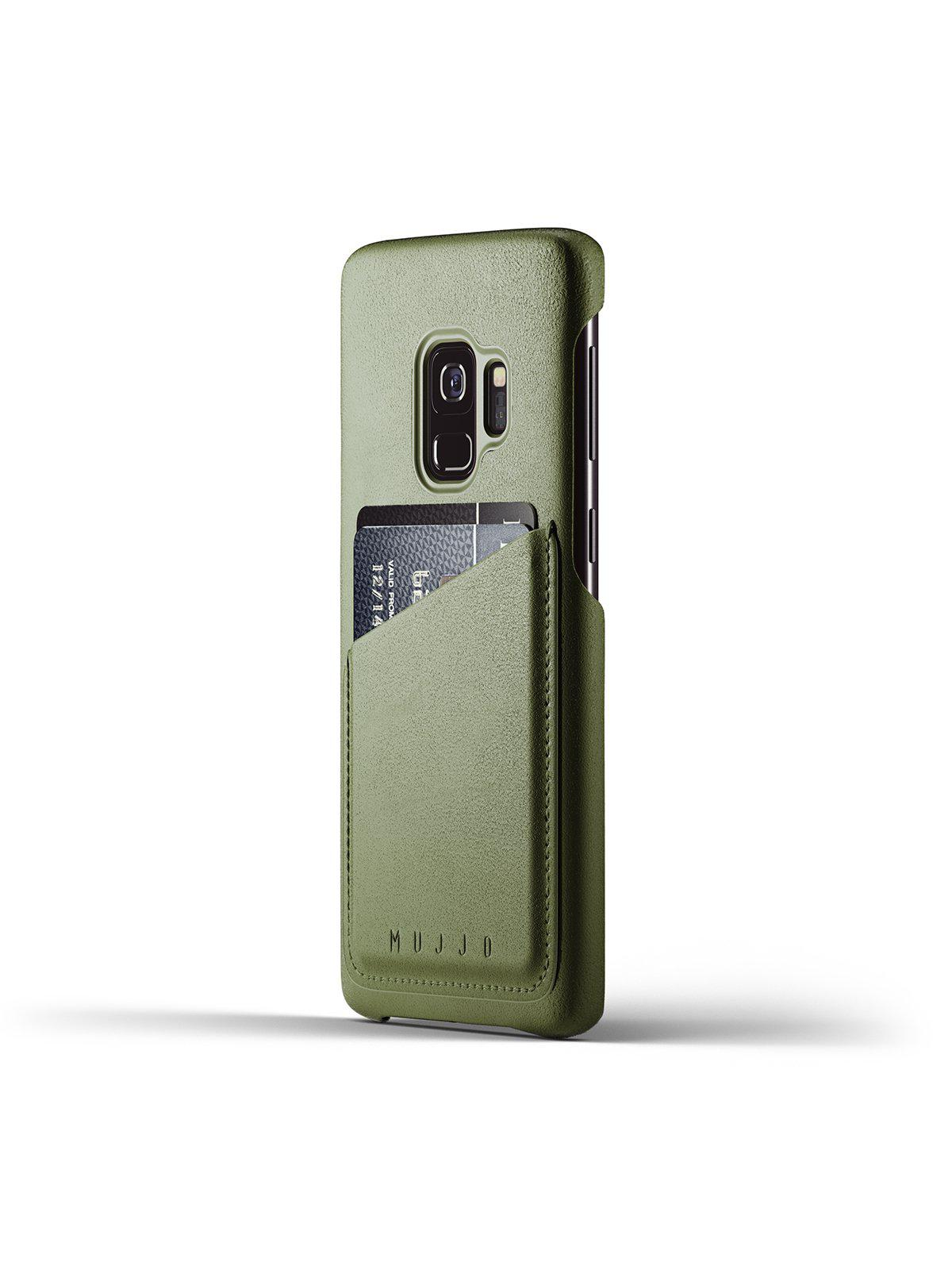 Mujjo Full Leather Wallet Case for Galaxy S9 Olive - MORE by Morello Indonesia