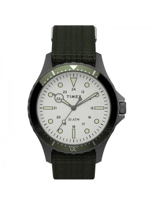 Timex Navi TW2T75500 41mm Gunmetal Green Fabric Strap - MORE by Morello Indonesia
