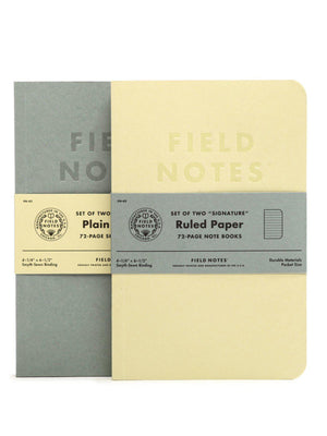 Field Notes Signature 2 Pack Plain Paper - MORE by Morello Indonesia