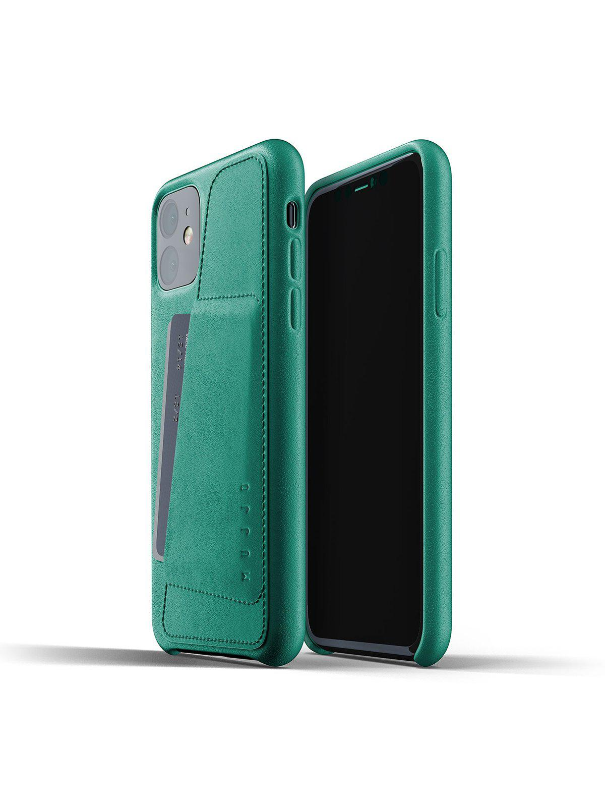 Mujjo Full Leather Wallet Case for iPhone 11 Alpine Green - MORE by Morello Indonesia