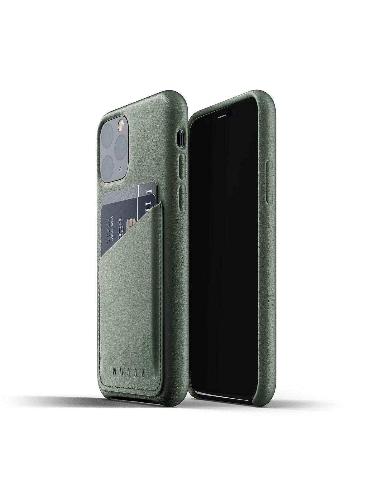 Mujjo Full Leather Wallet Case for iPhone 11 Pro Slate Green - MORE by Morello Indonesia