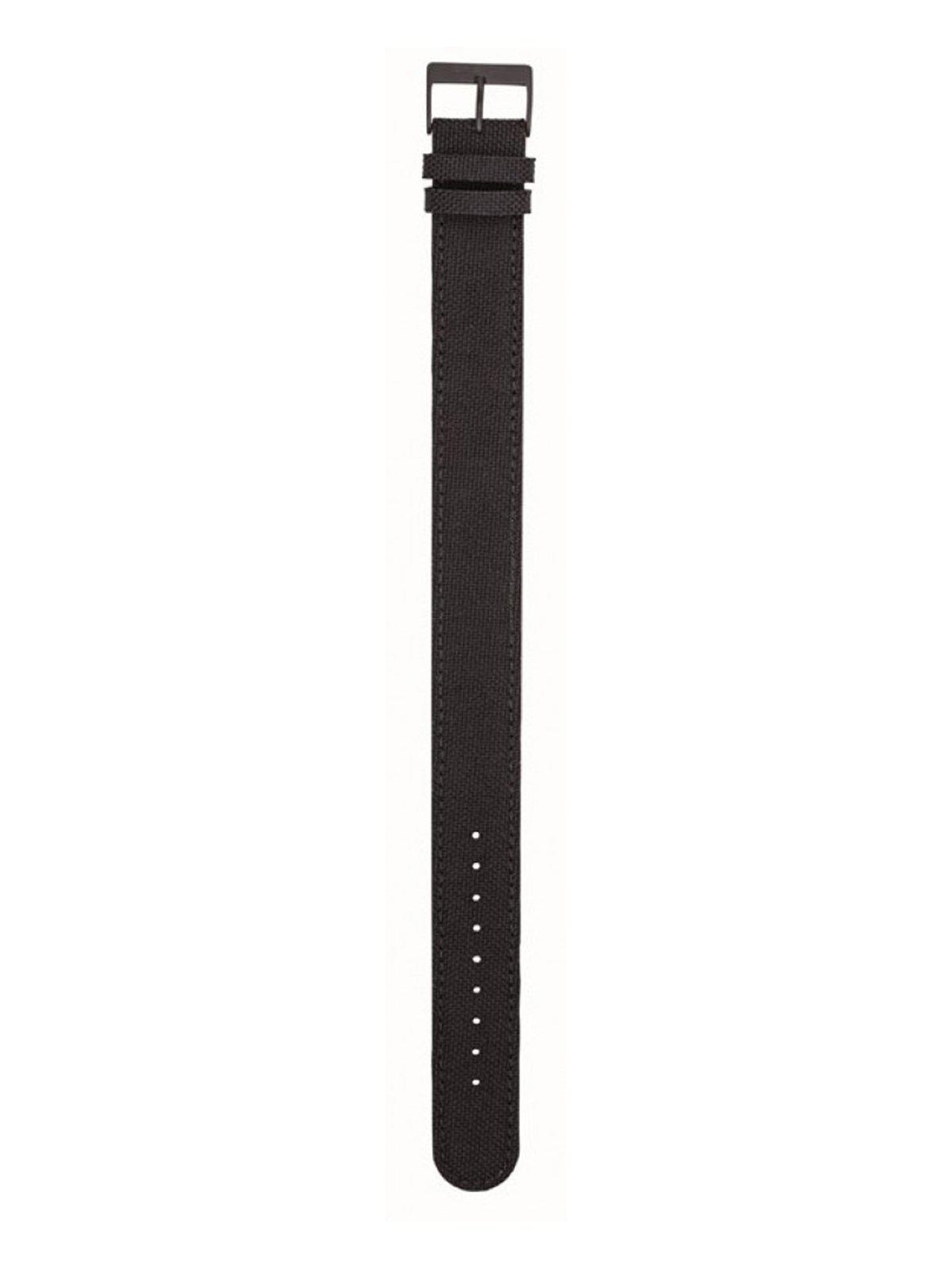 Briston Leather Canvas Strap Black PVD 20mm