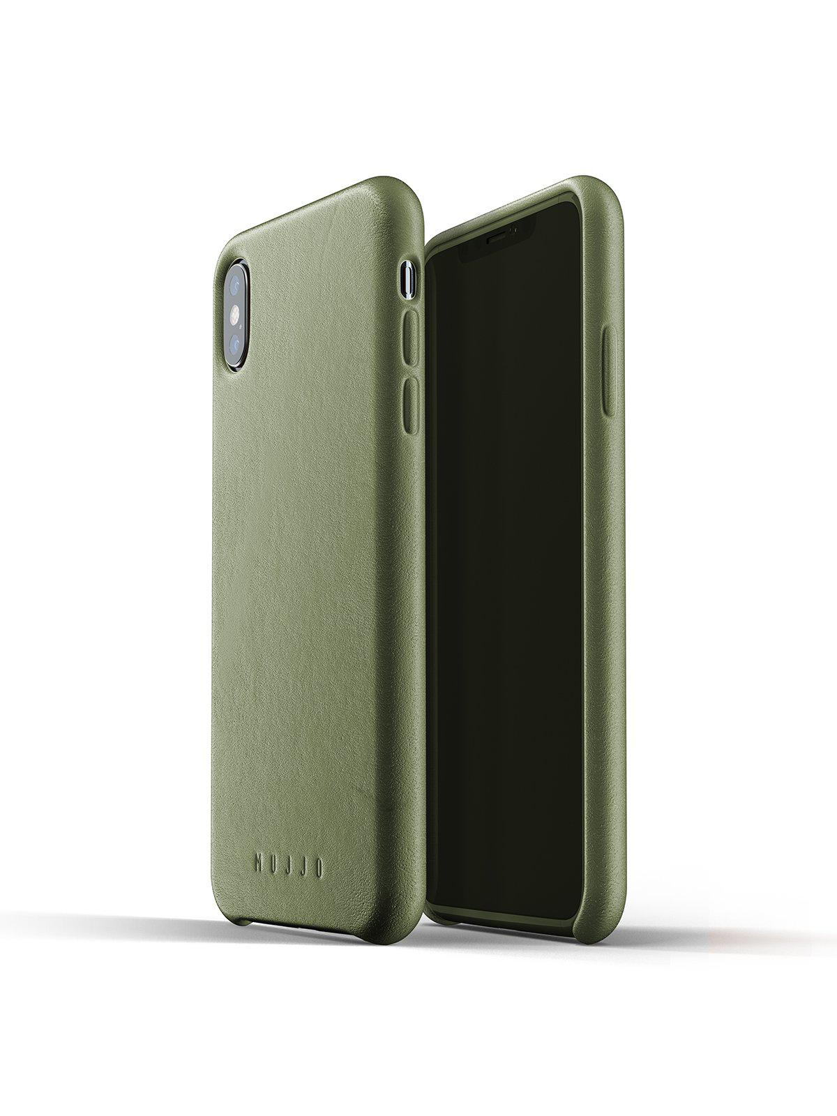 Mujjo Full Leather Case for iPhone XS Max Olive - MORE by Morello Indonesia