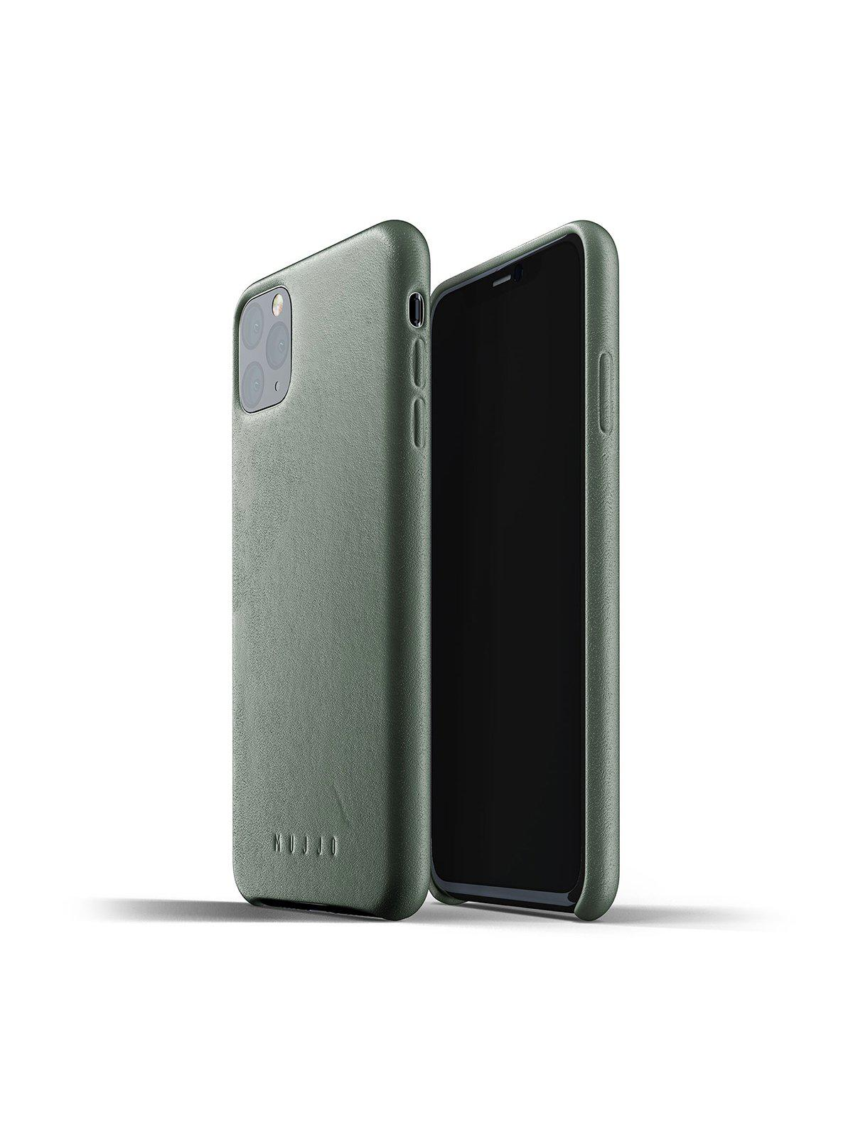 Mujjo Full Leather Case for iPhone 11 Pro Max Slate Green - MORE by Morello Indonesia
