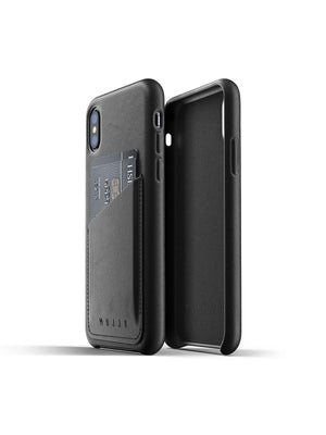 Mujjo Full Leather Wallet Case for iPhone XS Black