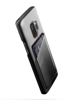 Mujjo Full Leather Wallet Case for Galaxy S9 Black - MORE by Morello Indonesia