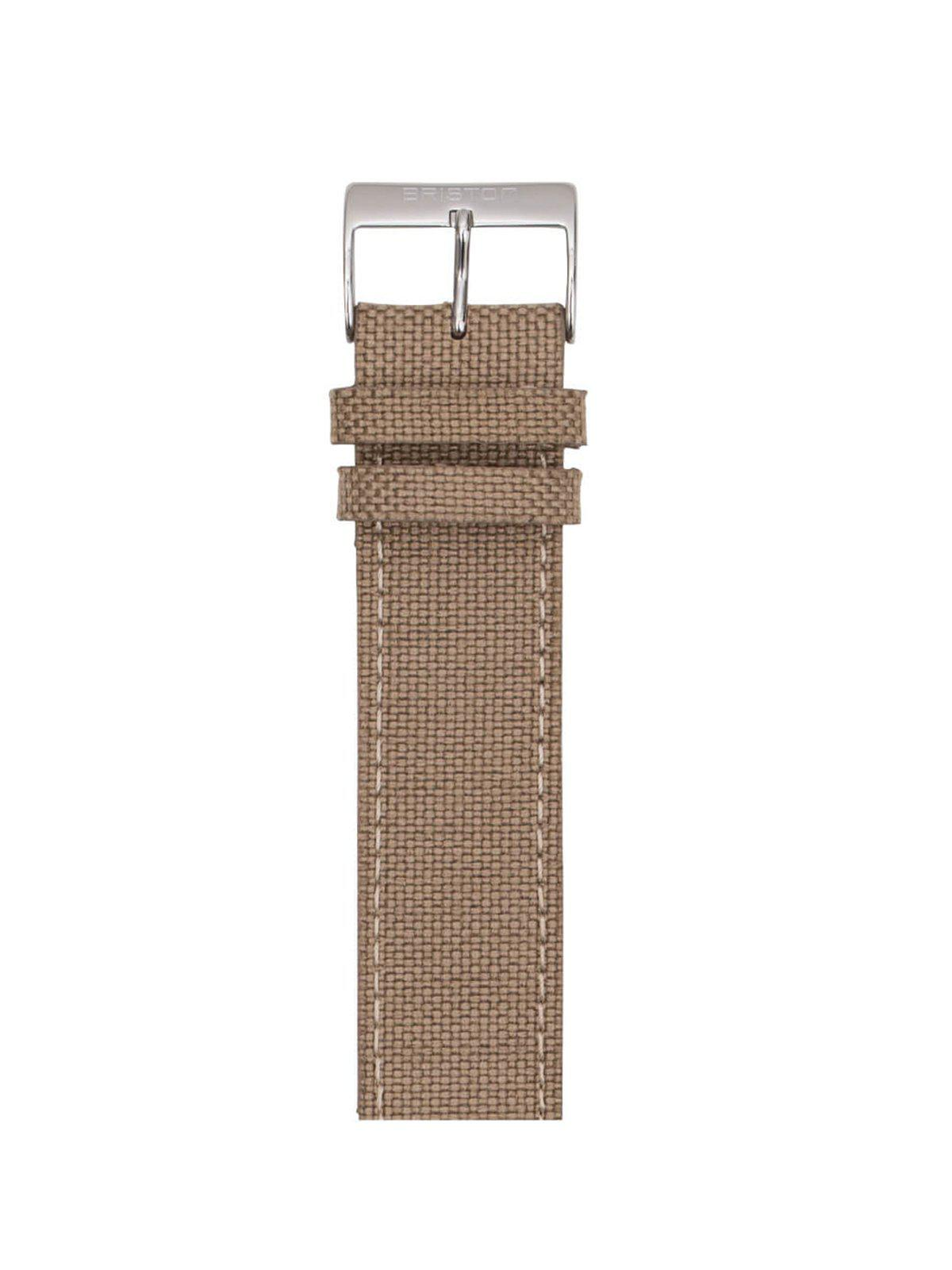 Briston Leather Canvas Strap Khaki 20mm
