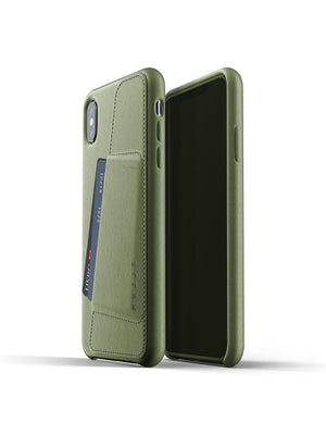 Mujjo Full Leather Wallet Case for iPhone XS Max Olive - MORE by Morello Indonesia
