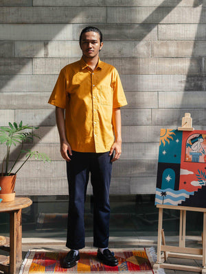 Contentment. Joy Mustard Linen Shirt - MORE by Morello Indonesia