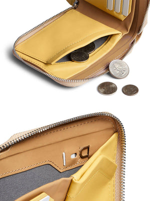 Bellroy Zip Wallet Tan RFID