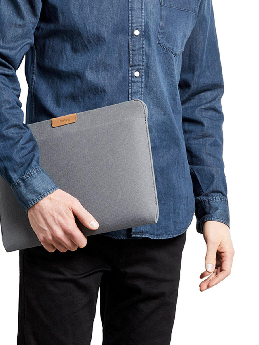 Bellroy Laptop Sleeve 15 Inch Light Grey Recycled - MORE by Morello - Indonesia