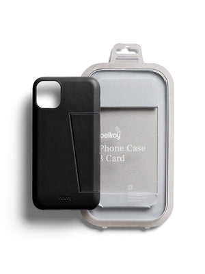 Bellroy Leather Phone Case 3 Card for iPhone 11 Black - MORE by Morello Indonesia