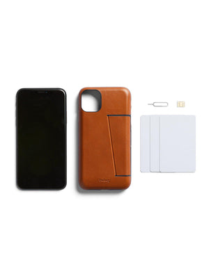 Bellroy Leather Phone Case 3 Card for iPhone 11 Caramel - MORE by Morello Indonesia