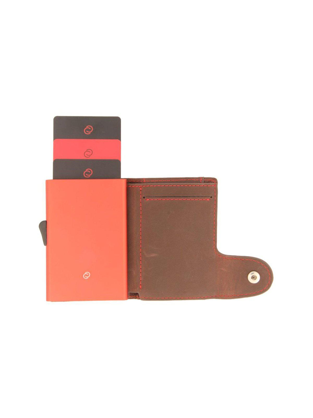 C-Secure Italian Leather RFID Wallet Auburn - MORE by Morello Indonesia